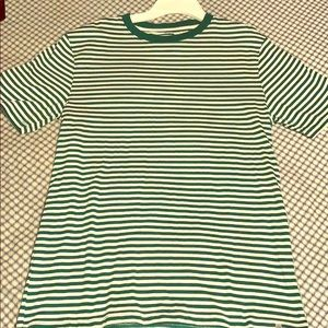 Green Striped Men's Tee